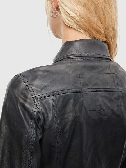 Diesel - L-SHAE, Black - Leather jackets - Image 4