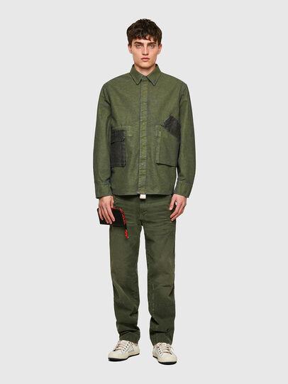 Diesel - D-CORU-SP, Verde Militar - Camisas de Denim - Image 5