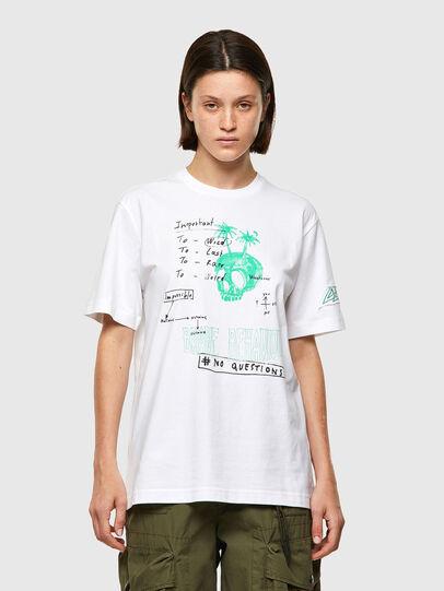 Diesel - T-JUST-B61, Blanco - Camisetas - Image 2