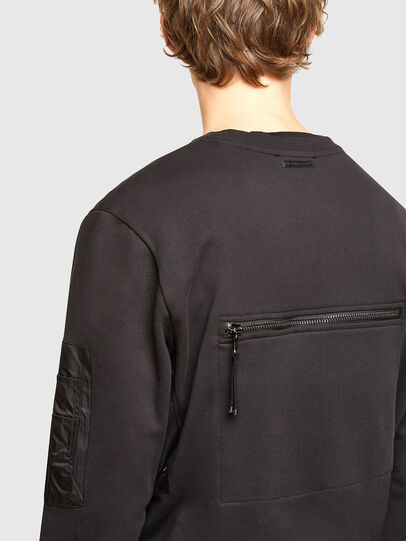 Diesel - S-IRIDIO, Black - Sweatshirts - Image 3