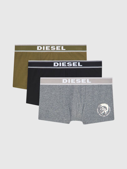 Diesel - UMBX-SHAWNTHREEPACK, Black/Grey - Trunks - Image 1
