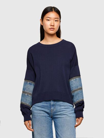 Diesel - M-AQUAMARINE, Blue - Sweaters - Image 1