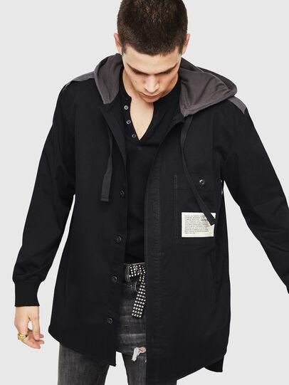 Diesel - S-EIKU, Black - Shirts - Image 1