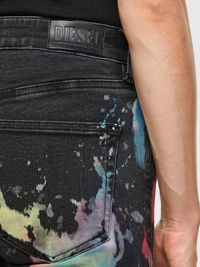 Diesel - Slandy Skinny Jeans 069UF, Black/Dark Grey - Jeans - Image 4