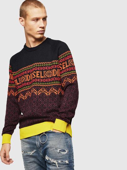 Diesel - K-CV-ALLJAC, Multicolor/Black - Sweaters - Image 1