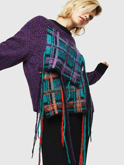 Diesel - M-TARTANN, Violet - Sweaters - Image 4