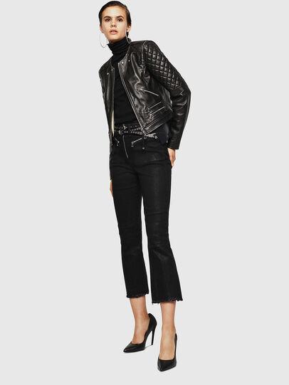 Diesel - LIVIA, Black - Leather jackets - Image 6
