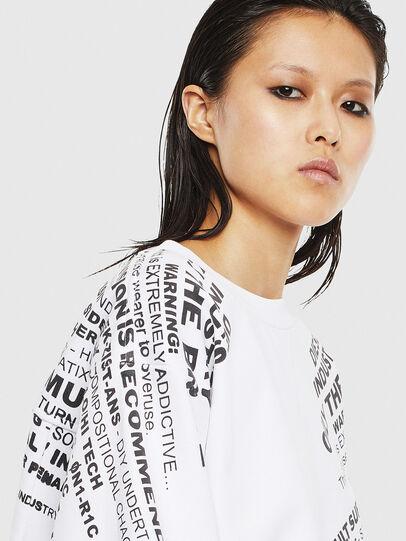 Diesel - F-AYALA, White - Sweatshirts - Image 3