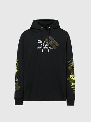 T-JUST-LS-HOOD-TAPES, Black - T-Shirts