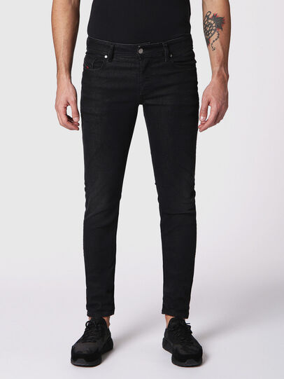 Diesel - Sleenker 084SB, Black/Dark Grey - Jeans - Image 1