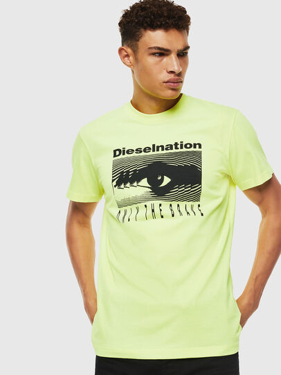 Diesel - T-DIEGO-J4, Yellow Fluo - T-Shirts - Image 1