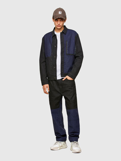 Diesel - D-ROKU-SP JOGGJEANS, Black/Blue - Denim Jackets - Image 5