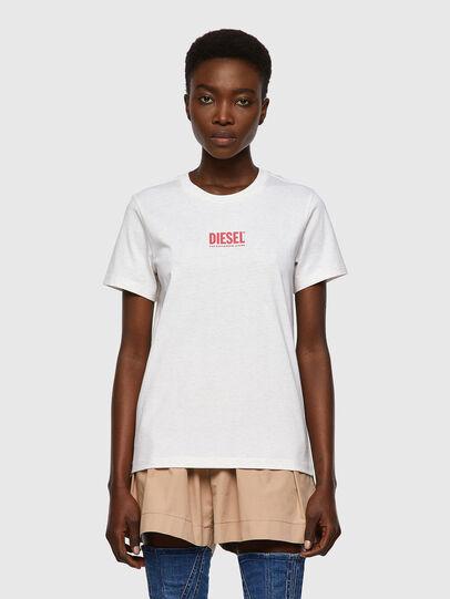 Diesel - T-SILY-ECOSMALLOGO, Pink/White - T-Shirts - Image 1