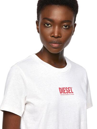 Diesel - T-SILY-ECOSMALLOGO, Pink/White - T-Shirts - Image 3