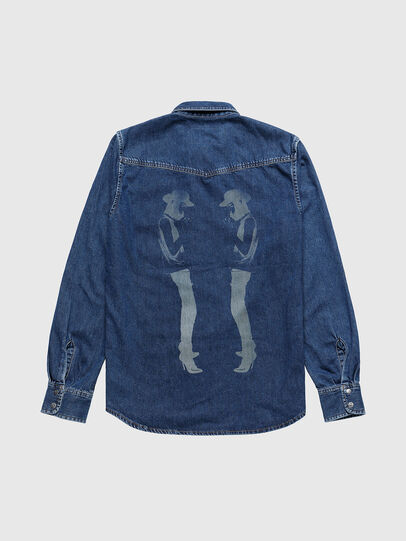 Diesel - US-D-EAST-P, Medium Blue - Denim Shirts - Image 2