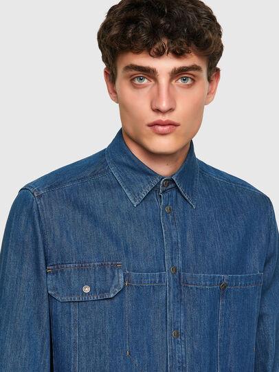 Diesel - D-MILLY-SP, Azul medio - Camisas de Denim - Image 3