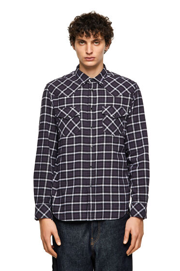 Green Label shirt in check flannel