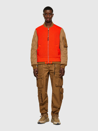 Diesel - K-OHIO, Brown/Orange - Jackets - Image 5