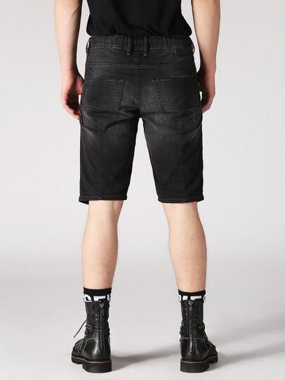 Diesel - KROOSHORT JOGGJEANS, Dark Grey - Shorts - Image 2
