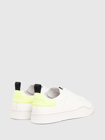 Diesel - S-CLEVER LS, White/Yellow - Sneakers - Image 3