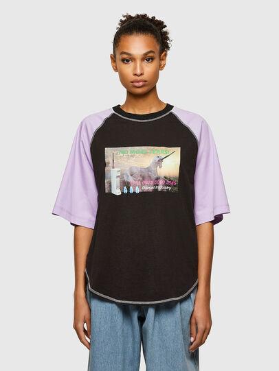 Diesel - T-SPO, Black/Violet - T-Shirts - Image 1