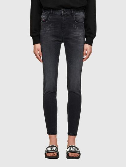 Diesel - Slandy High Skinny Jeans 069SB, Black/Dark Grey - Jeans - Image 1