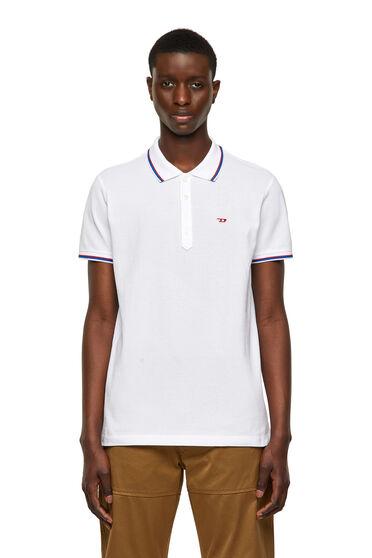 Cotton-piquet polo shirt
