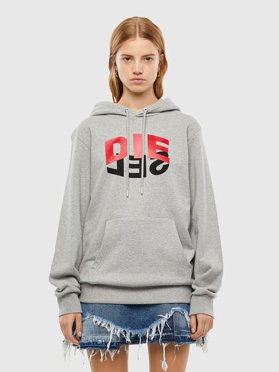 Diesel - S-GIRK-HOOD-N1, Grey - Sweatshirts - Image 2
