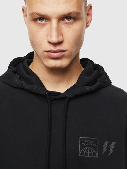 Diesel - S-GIRK-HOOD-SUN, Black - Sweatshirts - Image 4