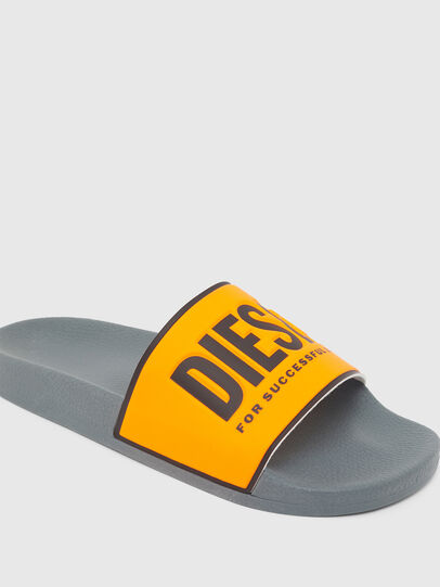 Diesel - SA-VALLA, Black/Orange - Slippers - Image 4