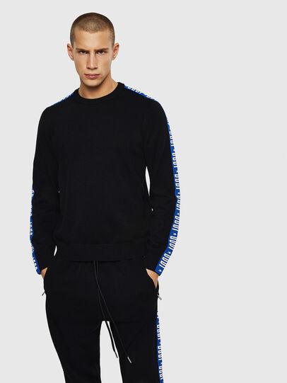 Diesel - K-TRACKY-B, Black/Blue - Sweaters - Image 1