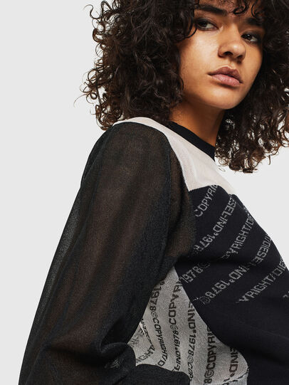 Diesel - M-COPI, Black/White - Sweaters - Image 3