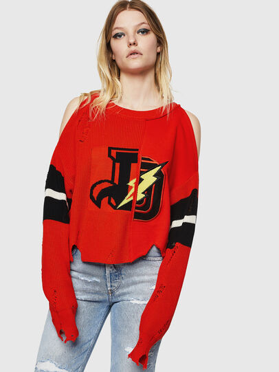 Diesel - M-CHEER, Orange - Sweaters - Image 1