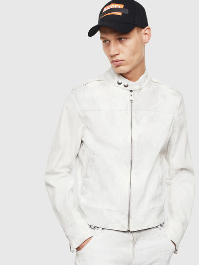 Diesel - D-JEI-SP2 JOGGJEANS, White - Denim Jackets - Image 1
