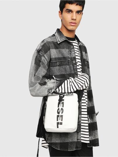 Diesel - F-BOLD SMALL CROSS, White - Crossbody Bags - Image 5