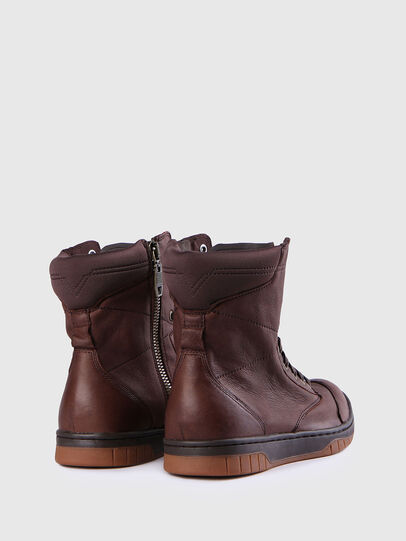 Diesel - S-BOULEVARD, Brown Leather - Boots - Image 3