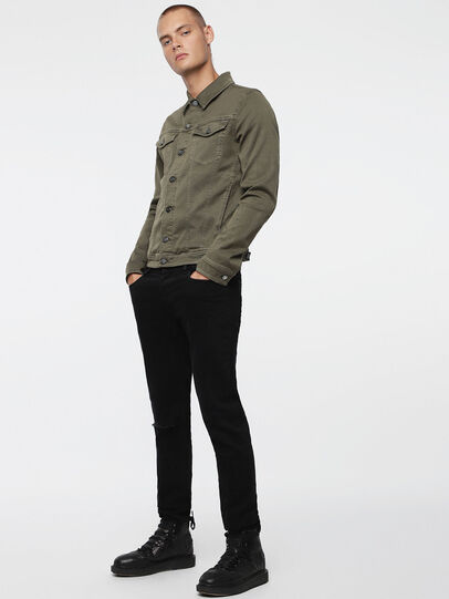 Diesel - ELSHAR JOGGJEANS, Military Green - Denim Jackets - Image 4