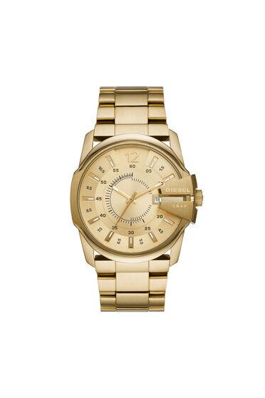 Master Chief reloj en tono dorado