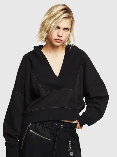 Diesel - F-KESA, Black - Sweatshirts - Image 1