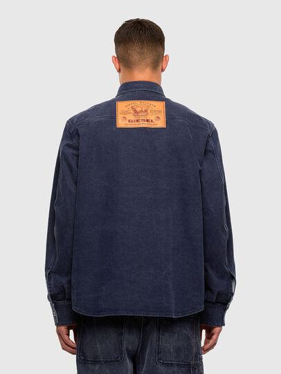 Diesel - D-VERSO, Dark Blue - Denim Shirts - Image 2