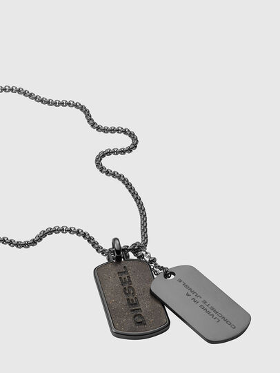 Diesel - DX1257, Silver - Necklaces - Image 2