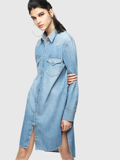 Diesel - DE-BLANCHE, Blue Jeans - Dresses - Image 1