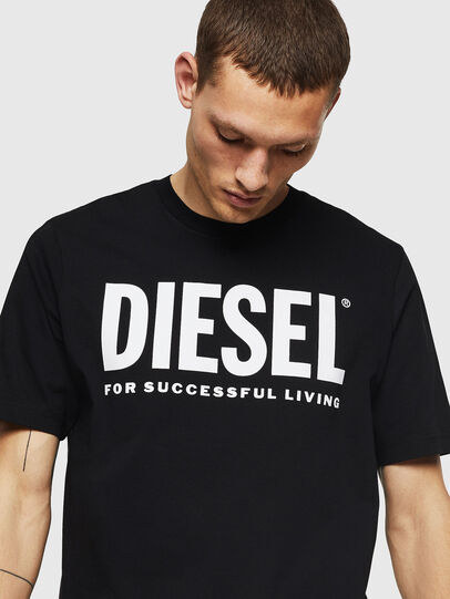 Diesel - T-JUST-LOGO, Black - T-Shirts - Image 3