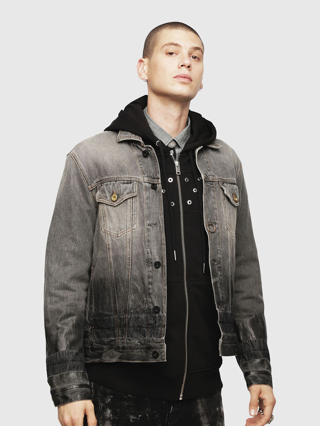NHILL, Black/Dark grey - Denim Jackets