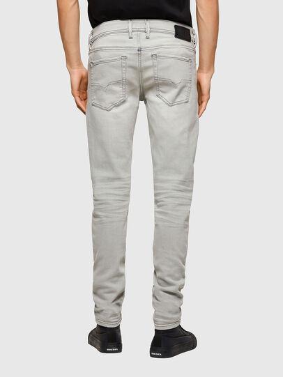 Diesel - Sleenker Skinny Jeans 009PY, Light Grey - Jeans - Image 2