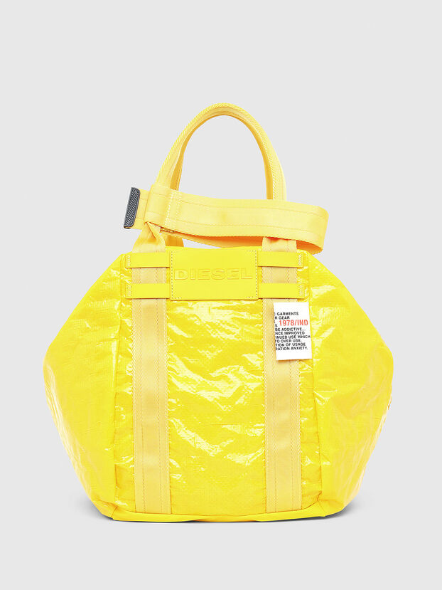 D-CAGE SHOPPER, Yellow - Shopping and Shoulder Bags
