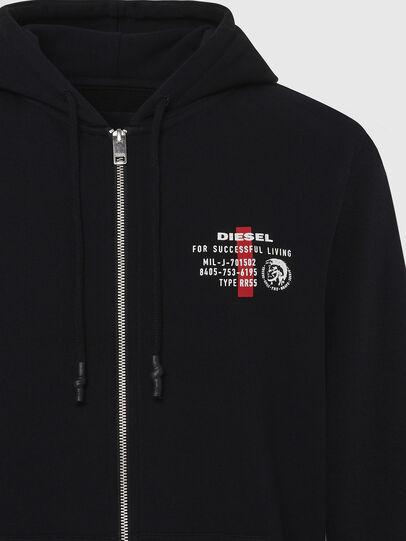 Diesel - UMLT-BRANDON-Z, Black - Sweatshirts - Image 3