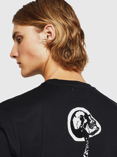Diesel - TEORIALE-X1, Black - T-Shirts - Image 3