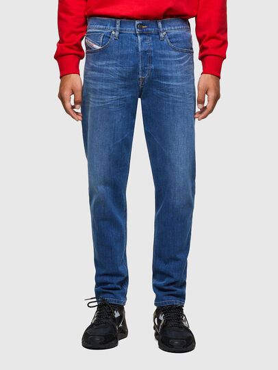 Diesel - D-Fining Tapered Jeans 09A80, Medium Blue - Jeans - Image 1