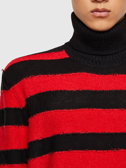 Diesel - K-BRENTON, Red/Black - Sweaters - Image 4